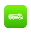 truck icon digital green vector image