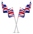 united kingdom uk waving flag vector image vector image