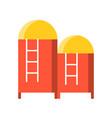 water tank flat design icon vector image vector image