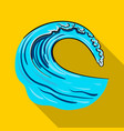 wave icon in flate style isolated on white vector image vector image