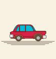 vintage flat car vector image