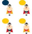 Cartoon dad as superhero vector image