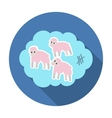 Count sheep icon in flat style isolated on white vector image