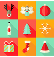 9 Christmas Flat Icons Set 4 vector image vector image