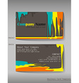 A colourful calling card vector image