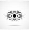 abstract eye of lines logo symbol vector image vector image