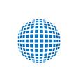abstract grid sphere logo latitude longitude vector image vector image