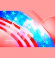Abstract usa flag shape scene
