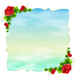 An empty template with red roses vector image vector image