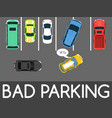 bad parking car parked in vector image