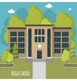 Beautiful high school facade Educate theme vector image