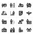 Black Human resource and employment icons vector image vector image