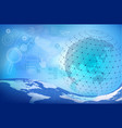 blue digital abstract background with globe vector image vector image