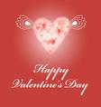 bright red greeting card for Valentines Day vector image vector image