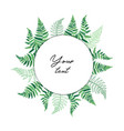 card template with fern leaf vector image vector image