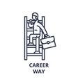 career way line icon concept career way vector image