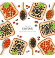 caviar realistic background red and black vector image