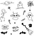 Character halloween doodle set vector image vector image