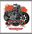 chopper motorcycle typography - t-shirt vector image vector image