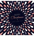 christmas and new year copper greeting card vector image vector image
