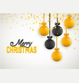 christmas greeting card design of xmas balls with vector image