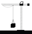crane construction black vector image