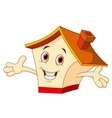 Cute house cartoon vector image