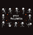 dancing skeletons funny white human bones in vector image vector image