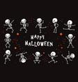 dancing skeletons funny white human bones vector image vector image
