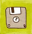 Diskette Cartoon vector image