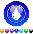 Drop circle button vector image vector image