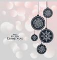 elegant hanging lamps for christmas festival vector image