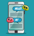 emoji message notification vector image