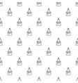 empanadas pattern seamless vector image vector image