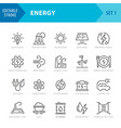 energy and power icons editable stroke pixel vector image