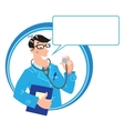 Family doctor Design template vector image
