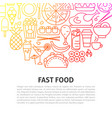 fast food line concept vector image vector image