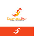 flaming character logo for food delivery business vector image vector image