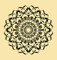 floral round decorative symbol ethnic decorative vector image