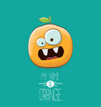 funny cartoon cute orange character vector image