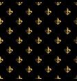golden fleur-de-lis seamless pattern gold vector image vector image