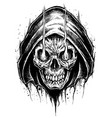grim reaper drawing line work vector image vector image