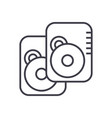 hard disk line icon sign on vector image vector image