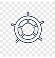 helm concept linear icon isolated on transparent vector image