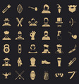 hipster style icons set simple style vector image vector image