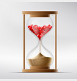 hourglass with human hearts disease a myocardial vector image vector image