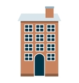 house building isolated icon vector image