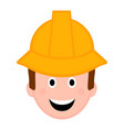 isolated male engineer avatar vector image vector image