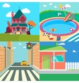 Landscapes Set Countryside Landscape vector image