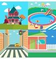 Landscapes Set Countryside Landscape vector image vector image